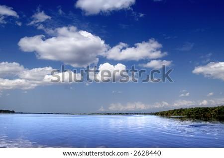 The Nile in Uganda - stock photo