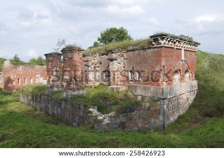 The nineteenth century fortress in Daugavpils - stock photo
