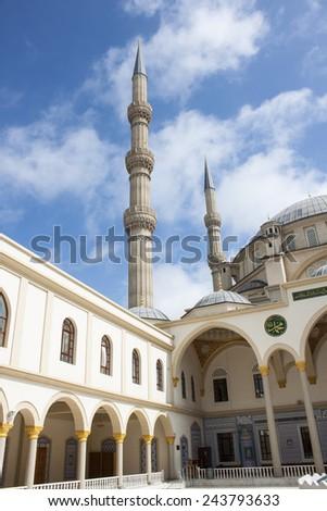 The Nizamiye Turkish Mosque in Midrand, Johannesburg - South Africa - December 2014 - stock photo