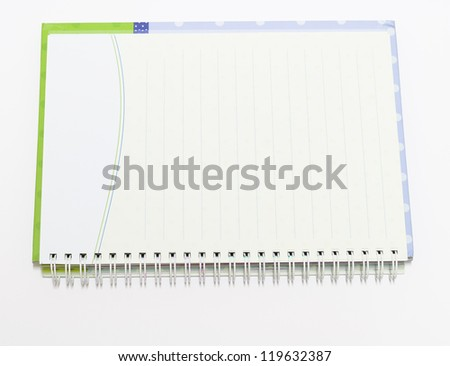 The Notebook background open right  view with a spiral binding - stock photo