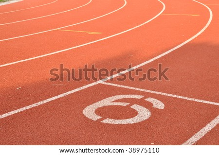 the number six lane - stock photo