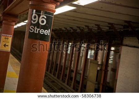 The NYC subway - stock photo