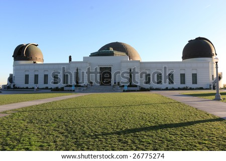 The observatory on a hill, Los Angeles - stock photo