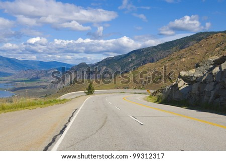 The offical desert of Canada, popular tourist destination, Osoyoos, British Colombia, Canada - stock photo
