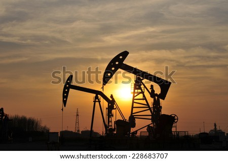 The oil pump   - stock photo