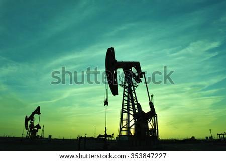 The oil pump  - stock photo