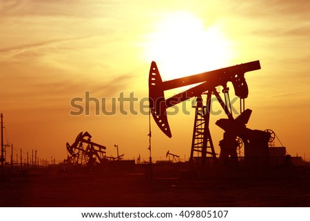The oil rig  - stock photo