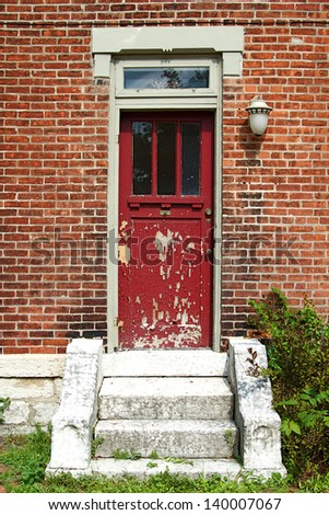 The old and vintage doors of German Village, Columbus, Ohio - stock photo