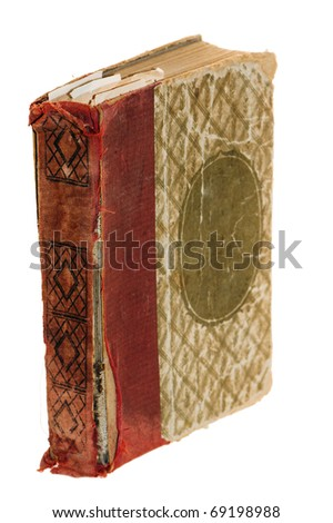 The old book, it is isolated on white - stock photo