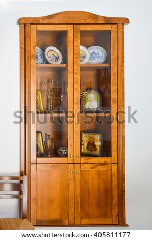 The old cabinet in the monastery - stock photo