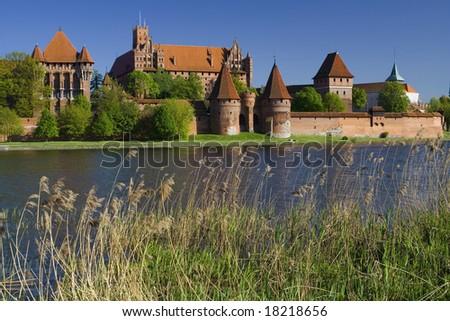 the old castle Malbork - Poland - stock photo