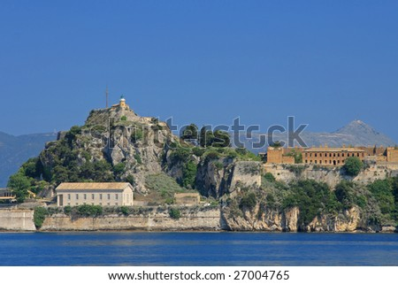 the old castle of Corfu town - stock photo