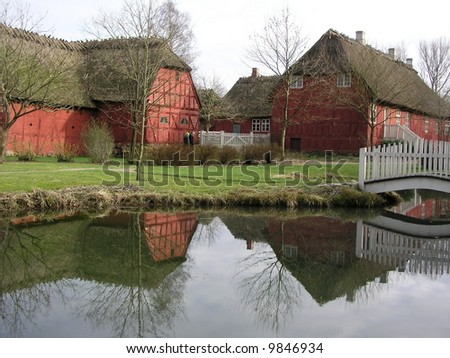 The old city of Hans christian Andersen in Denmark - stock photo