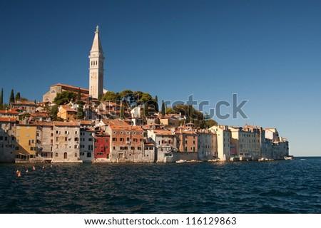 the old city Rovinj - Croatia - stock photo