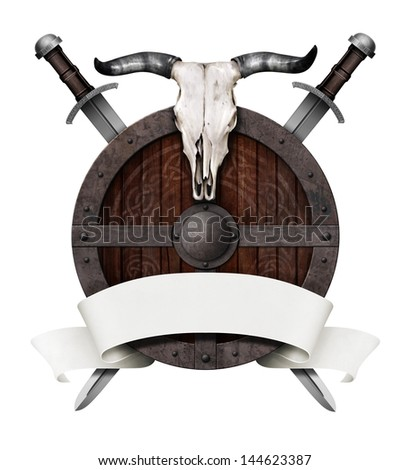 the old coat of arms - stock photo
