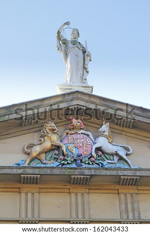 The old Courthouse, Wakefield, West Yorkshire, UK - stock photo