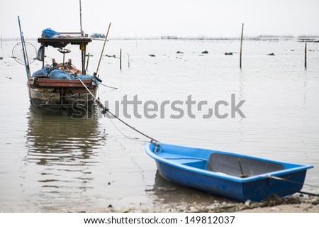 The old fishing boat for coastal fisheries. - stock photo