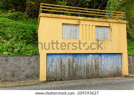 The old house on Azores, Portugal - stock photo