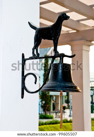 The Old iron bell - stock photo