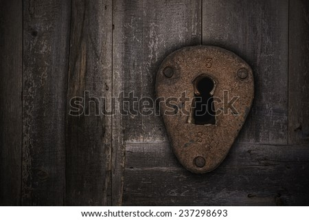 the old keyhole - stock photo