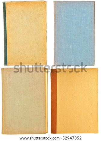 The old lids of books are isolated on a white background - stock photo