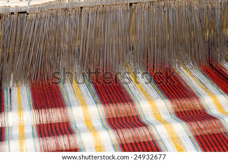 the old loom in china - stock photo