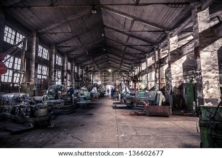 The old machine tool equipment - stock photo