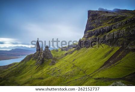 The Old Man of Storr, Isle of Skye, Scotland, UK - stock photo