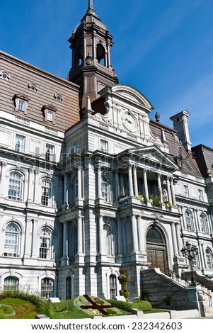 The old Montreal City Hall is a National Historic Site in Canada - stock photo