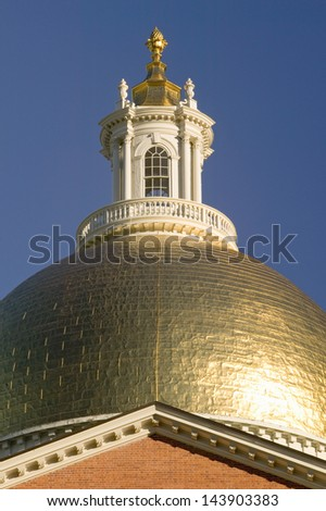 The Old State House for the Commonwealth of Massachusetts, State Capitol Building, Boston, Massachusettes - stock photo