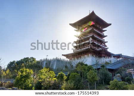 The old tower china - stock photo