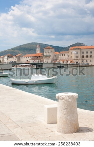 The Old Town of Trogir  in Croatia. UNESCO World heritage place - stock photo