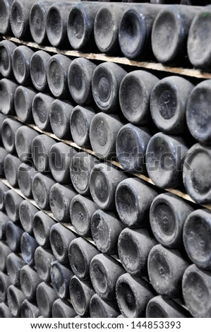 The old wine cellar 20 of an eyelid - stock photo