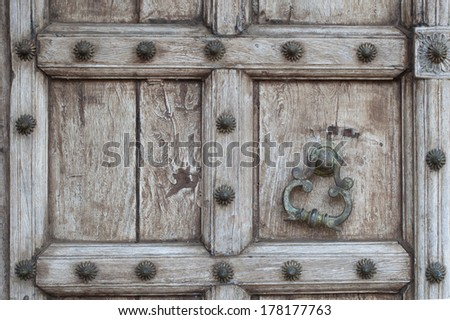 The old wood door. - stock photo