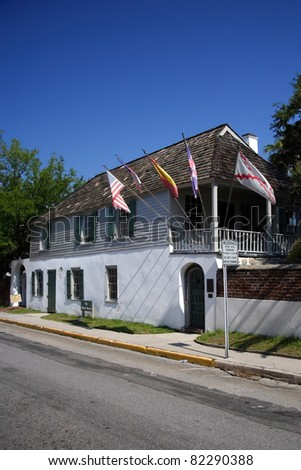 The Oldest House in St. Augustine, Florida - stock photo