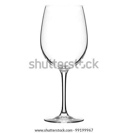 the one wineglass - stock photo