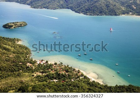 The only fjord from Brazil in Paraty, Rio de Janeiro Province. - stock photo