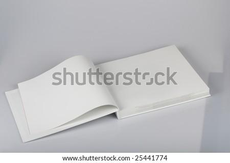 The open pure white book - stock photo