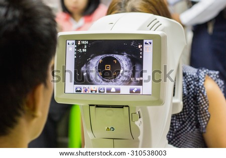 The Optical Instruments for examines the sight - stock photo