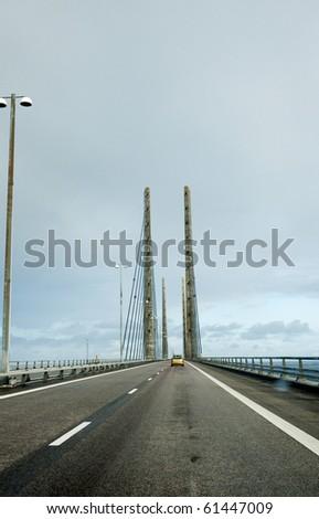 The Oresund bridge - stock photo