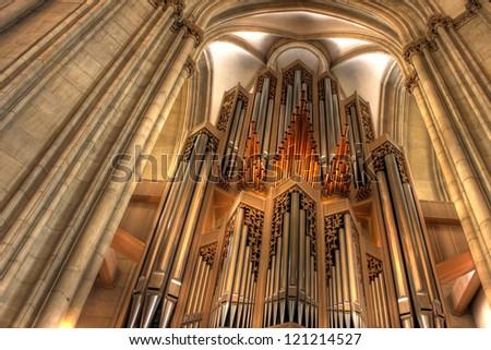 The Orgel St. Lamberti church, Munster - Germany - stock photo