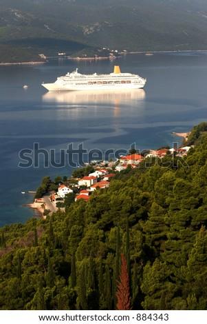 The Orianna near Korcula, Croatia - stock photo