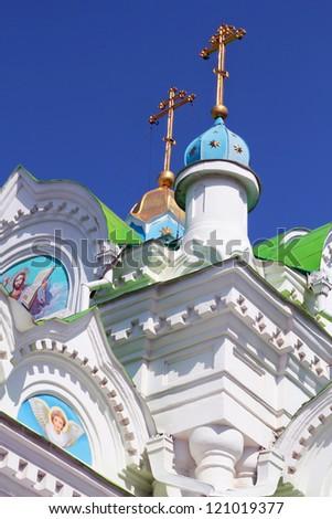 The Orthodox church details, Feodosia, Ukraine - stock photo