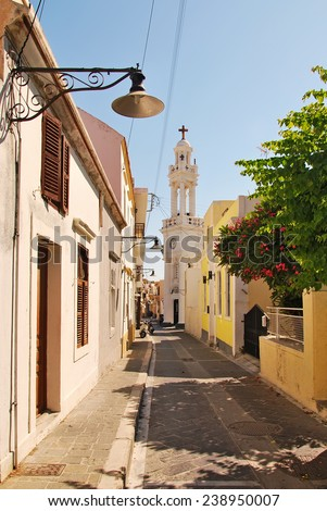 The Orthodox Church outside of Rhodes. Greece - stock photo