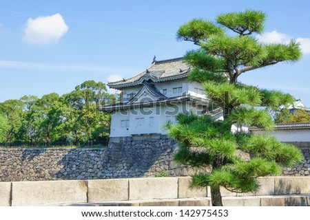 The Osaka Castle - stock photo