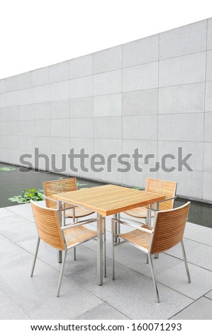 The outdoor coffee table - stock photo