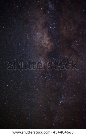 The outstanding beauty and clarity of the Milky Way, with close up of the its colorful core. Long exposure captured from Thailand Detail from the milky way.The center of the milky way galaxy.Milky way - stock photo