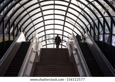 The overpass in the city - stock photo