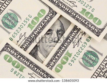 The pack of dollars on a background - stock photo