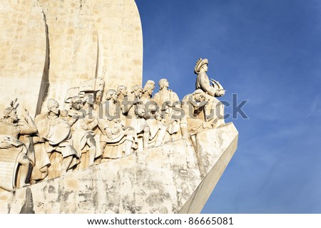 The Padrao dos Descobrimentos, monument in Lisbon - stock photo